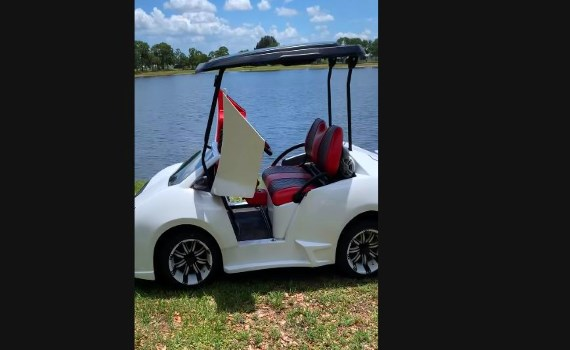 Lamborghini Countach Custom Golf Cart