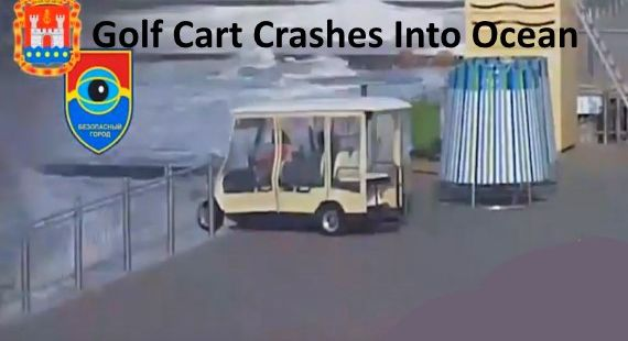 Golf Cart Crash Into Ocean