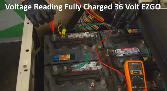 How Many Volts Should A 36 Volt EZGO Battery Pack Charged