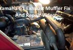 Yamaha G1 Exhaust Muffler Fix And Repair Video