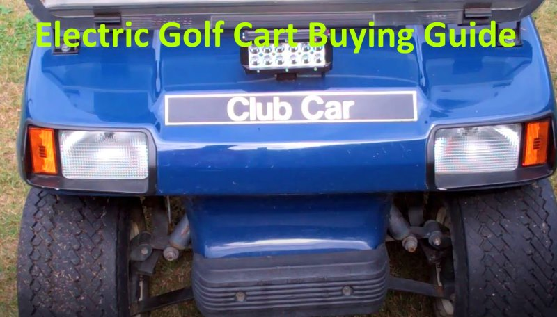 Electric Golf Cart Buying Guide