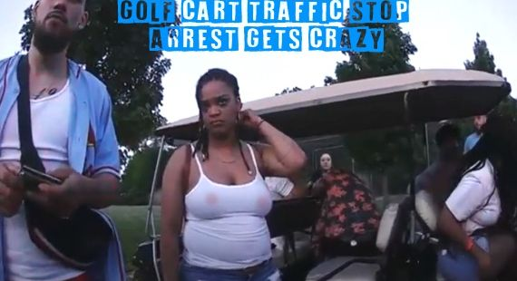Golf Cart Traffic Stop Arrest Gets Crazy
