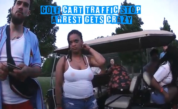 Golf Cart Traffic Stop Arrest Gets Crazy