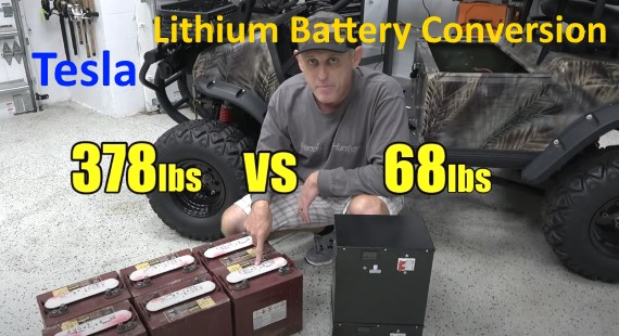 Tesla Lithium Battery Conversion For Golf Cart Video