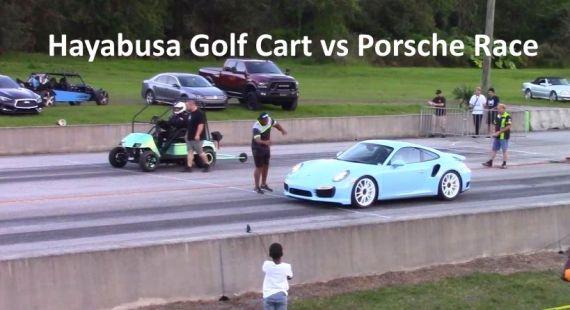 Hayabusa Golf Cart vs dragster