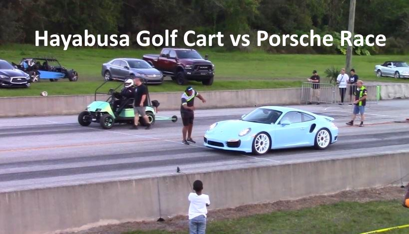 Hayabusa Golf Cart vs dragster